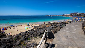 The Playa Blanca beach Stock Image