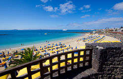 The Playa Blanca beach Stock Photography