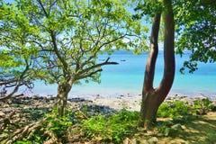 The Playa Blanca beach in Peninsula Papagayo, Costa Rica. The Playa Blanca beach in Peninsula Papagayo in Guanacaste, Costa Rica royalty free stock photo