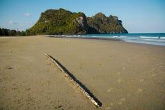 Playa blanca de la arena Imágenes de archivo libres de regalías