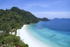 Playa blanca hermosa de la arena de la isla del phee del oo del nyang la mayoría del popula Fotografía de archivo libre de regalías