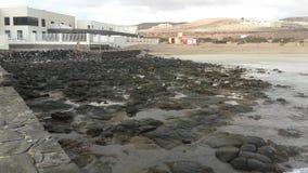Playa Blanca i Fuerteventura, Canarias fotografering för bildbyråer