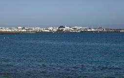 Playa Blanca kurort, Lanzarote, wyspy kanaryjska, Hiszpania Fotografia Royalty Free