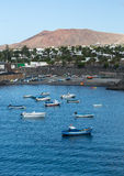 Playa Blanca on Lanzarote Royalty Free Stock Photo