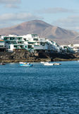 Playa Blanca on Lanzarote. Stock Photo