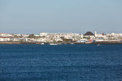 Playa Blanca on Lanzarote. Stock Photos