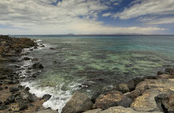 Playa Blanca in Lanzarote stock photography