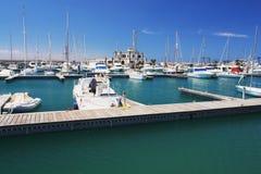 Playa Blanca, Lanzarote. View of the marina Rubicon in Playa Blanca, Lanzarote Royalty Free Stock Image