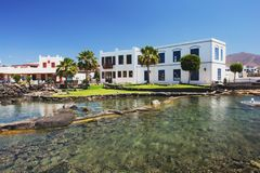 Playa Blanca, Lanzarote. View from Plaza la Sal in Playa Blanca, Lanzarote Royalty Free Stock Photos
