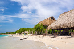 Playa Blanca plaży budy Obraz Stock