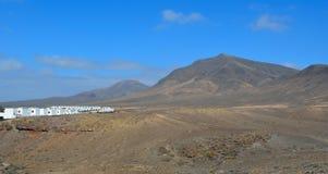 Playa BLANCA und Berge Lizenzfreie Stockfotos
