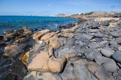 The Playa Blanca waterfronf stock image