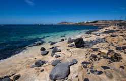 The Playa Blanca waterfronf stock images