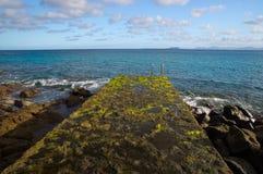 The Playa Blanca waterfronf stock photography