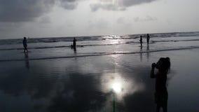 Playa Bombay de Gorai imagen de archivo libre de regalías