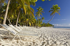 Playa Bonita at Isla Saona Royalty Free Stock Photography