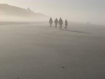 Playa brumosa Imagen de archivo