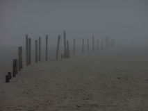 Playa brumosa Imagen de archivo libre de regalías
