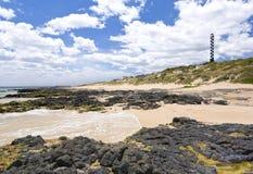 Playa Bunbury del faro fotografía de archivo libre de regalías