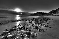 Playa Burgau de las cabañas Fotos de archivo