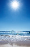 Playa caliente Foto de archivo libre de regalías