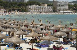 Playa caliente asoleada Fotografía de archivo libre de regalías