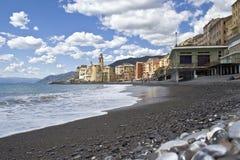 Playa Camogli Imágenes de archivo libres de regalías