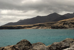 Playa, Canarias. Fuerteventura. Foto de archivo libre de regalías