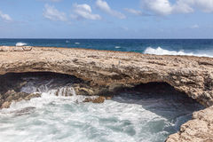 Playa Canoa natural arch Royalty Free Stock Images