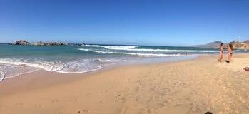 PLAYA CARIBE. Panoramic view of playa caribe at margarita stock photography