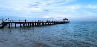 Playa Carmen Pier Stock Photos