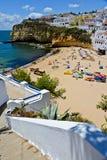 Playa cerca de Nazare, Portugal Fotografía de archivo libre de regalías