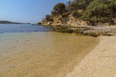 Playa cerca de Piscinni Fotos de archivo libres de regalías