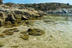 Playa cerca de Piscinni Foto de archivo libre de regalías