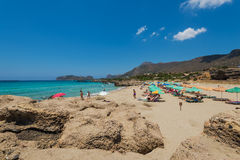 Playa Chania Grecia de Falasarna Fotografía de archivo