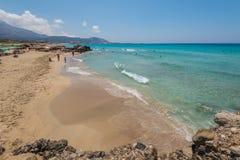 Playa Chania Grecia de Falasarna Imagen de archivo
