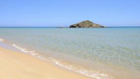 Playa Chia en Cerdeña, Italia Foto de archivo
