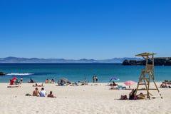 Playa Chica in Tarifa, Andalusia, Spanje royalty-vrije stock afbeelding
