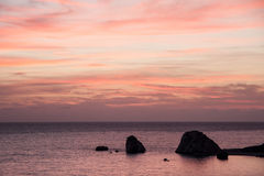 Playa Cliifs de Chipre Imagen de archivo