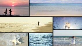 Playa, collage almacen de metraje de vídeo