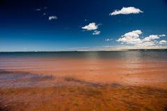 Playa coloreada Imagen de archivo libre de regalías