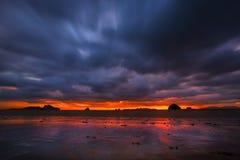 Playa colorida foto de archivo