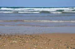 Playa con los guijarros, Australia Foto de archivo libre de regalías