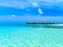 Playa con Maldivas foto de archivo