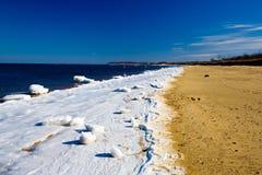 Playa congelada Foto de archivo libre de regalías