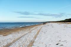 Playa congelada del mar Imagen de archivo libre de regalías