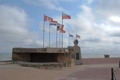 Playa conmemorativa de Juno del día D de Normandía Foto de archivo