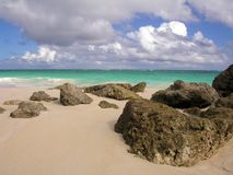 Playa coralina Imagen de archivo