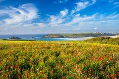 Playa Cornualles de Crantock Fotografía de archivo