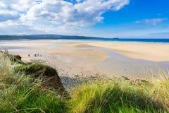 Playa Cornualles de Hayle Towans imagen de archivo